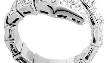 Bvlgari Bvlgari Serpenti 18K White Gold Diamond Ring