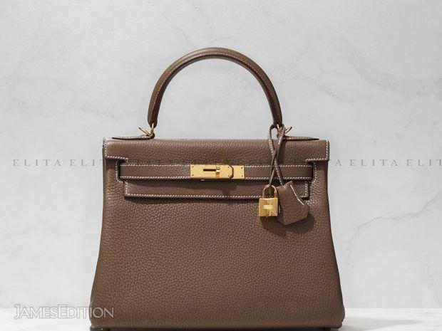 Hermes Kelly 28 Etoupe Togo Leather (11035820)