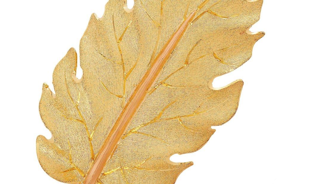 Buccellati Buccellati 18K Yellow Gold Leaf Brooch