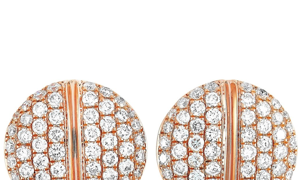 LB Exclusive LB Exclusive 18K Rose Gold 1.05 ct Diamond Earrings