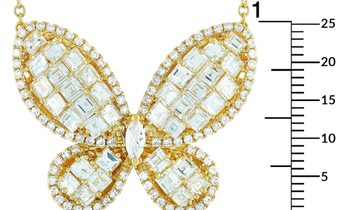 LB Exclusive LB Exclusive 18K Yellow Gold 4.62 ct Diamond Butterfly Pendant Necklace