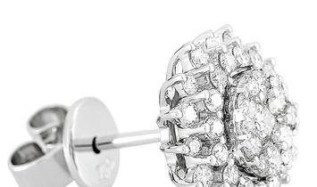 LB Exclusive LB Exclusive 18K White Gold 1.10 ct Diamond Earrings