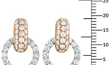 LB Exclusive LB Exclusive 18K White and Rose Gold 1.64 ct Full Diamond Link Dangle Push Back Earring
