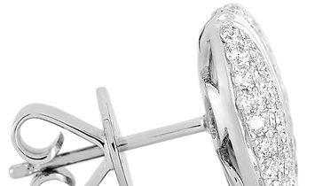 LB Exclusive LB Exclusive 18K White Gold 1.05 ct Diamond Earrings