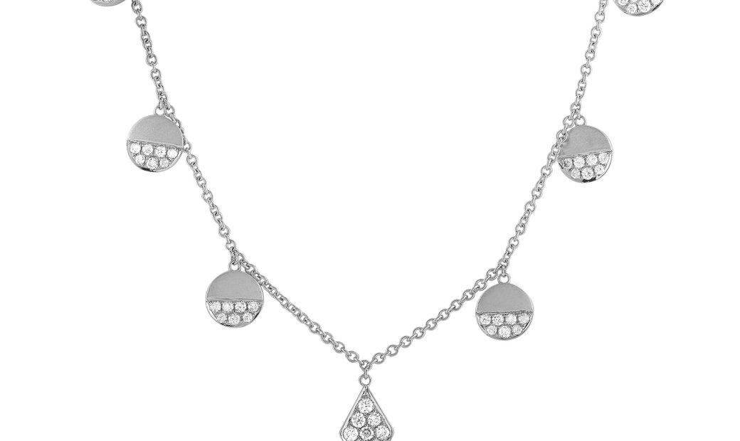 LB Exclusive LB Exclusive 18K White Gold 0.90 ct Diamond Pendant Necklace