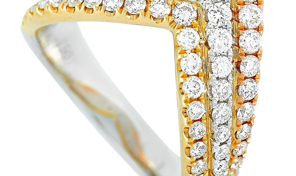 LB Exclusive LB Exclusive 18K White, Yellow, and Rose Gold 1.00 ct Diamond Ring