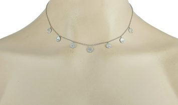 LB Exclusive LB Exclusive 18K White Gold 0.70 ct Diamond Pendant Necklace