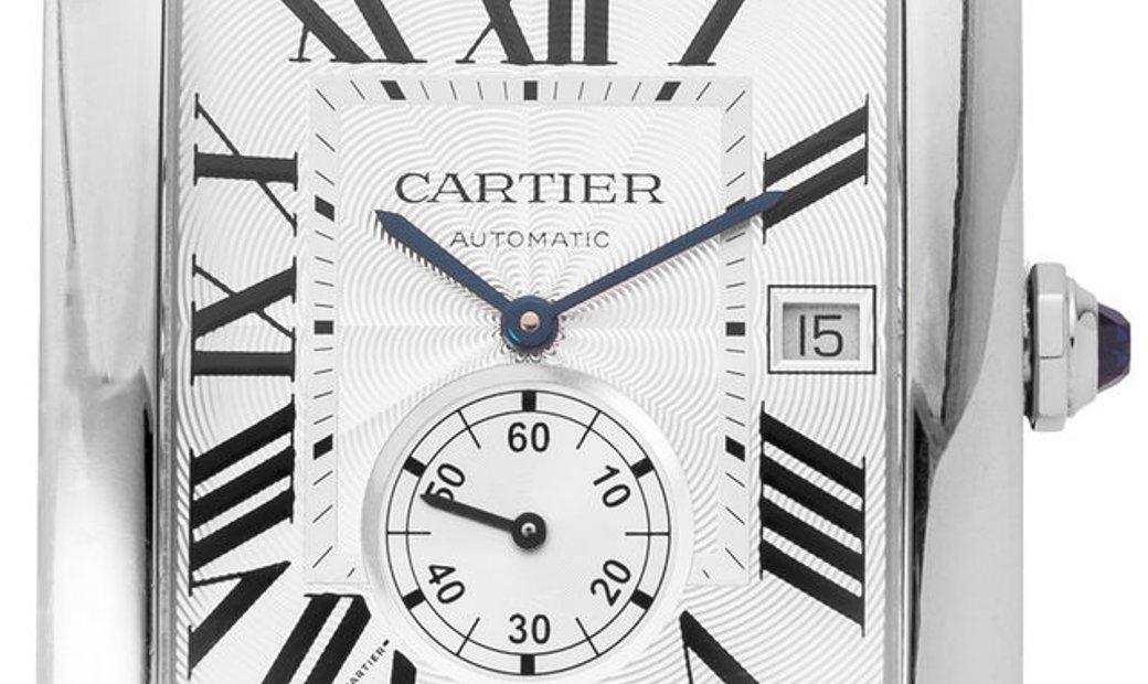 Cartier Tank MC W5330003 3589, Roman Numerals, 2015, Very Good, Case material Steel, Br