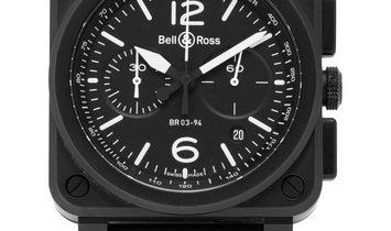 Bell and Ross BR03-94 Black Matte BR0394-BL-CE, Baton, 2019, Good, Case material Cerami