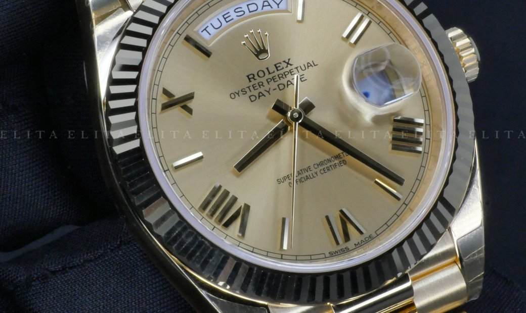 Rolex Day-Date 40 228238-0006 18 Ct Yellow Gold Champagne Coloured Dial
