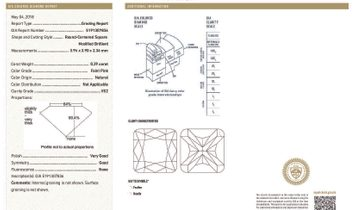Faint Pink Diamond Earrings, 0.59 Ct. (2.32 Ct. TW), Cushion shape, GIA Certified, JCEF05434405