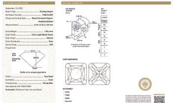 Fancy Light Bluish Green Diamond Ring, 1.50 Ct. (3.12 Ct. TW), Radiant shape, GIA Certified, 7306316