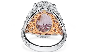 Natural PINK Sapphire Ring, 10.01 Ct. (13.81 Ct. TW), GIA Certified, 1192650894, Unheated
