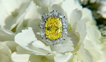 Fancy Yellow Diamond Ring, 7.03 Ct. (9.74 Ct. TW), Oval shape, GIA Certified, 2185059309