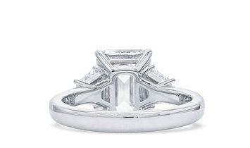 White Diamond Ring, 3.03 Ct. (3.65 Ct. TW), Emerald shape, GIA Certified, 1329121212