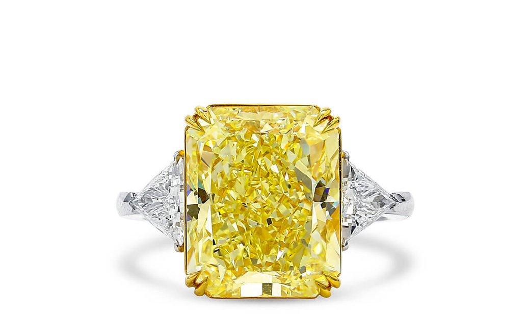 Fancy Light Yellow Diamond Ring, 9.05 Ct. (9.72 Ct. TW), Radiant shape, GIA Certified, 2191389105