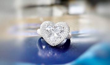 White Diamond Ring, 3.01 Ct. (4.94 Ct. TW), Heart shape, GIA Certified, 6292413292
