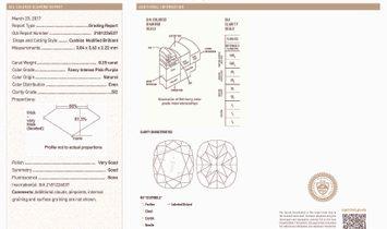 Fancy Intense Pink Purple Diamond Earrings, 2.87 Ct. TW, Cushion shape, GIA Certified, JCEF05358101