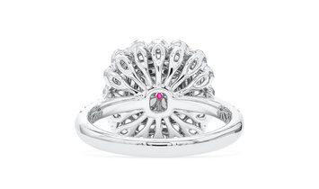 Faint Pink Diamond Ring, 0.90 Ct. (1.57 Ct. TW), Cushion shape, GIA Certified, 6305977608