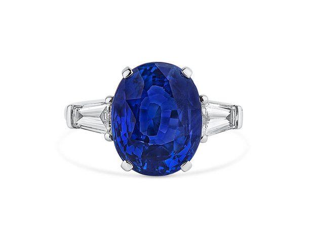 Natural Blue Sri-Lanka Sapphire Ring, 7.58 Ct. (8.31 Ct. ... (10899083)