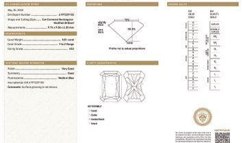 Light Yellow (Y-Z) Diamond Ring, 1.00 Carat, Radiant shape, GIA Certified, 6197229150