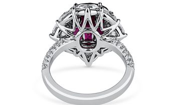 Natural Red Ruby Ring, 6.18 Ct. (9.51 Ct. TW), GUBELIN Certified, 18031129, Unheated