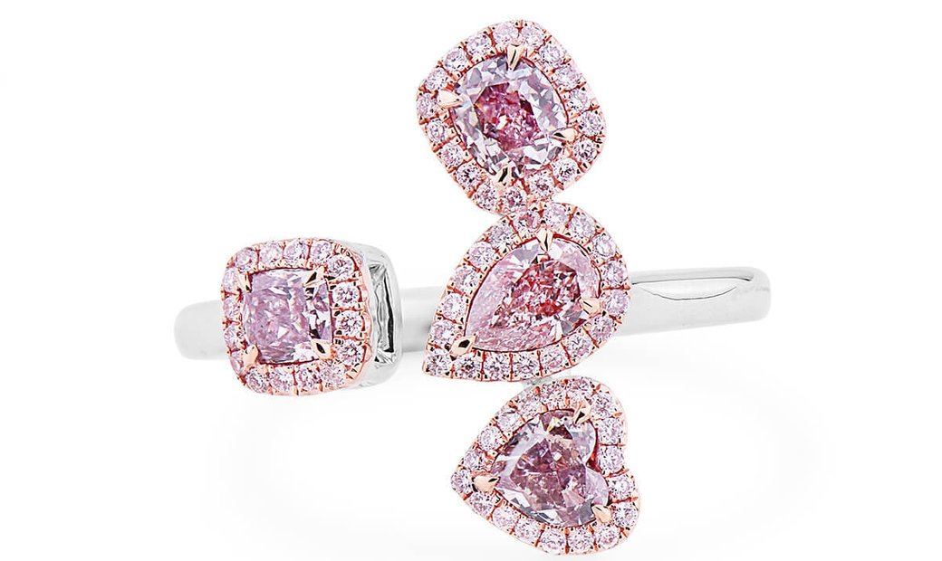 Fancy Light Pink Brown Diamond Ring, 0.90 Ct. (1.11 Ct. TW), Pear shape, GIA Certified, JCRF05439641