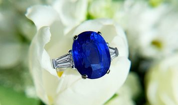 Natural Blue Sapphire Ring, 0.73 Carat, GRS Certified, GRS2014-017146, Unheated