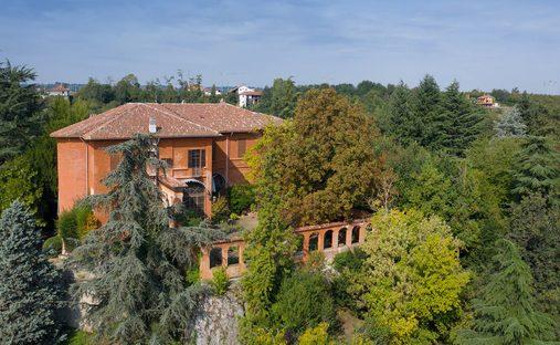 Castle in Piozzo, Piemonte, Italy