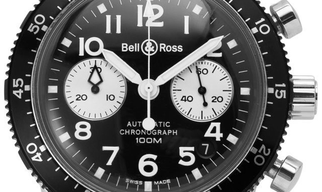 Bell and Ross Pilot Acrylic Chronograph 520 S, Arabic Numerals, 2005, Good, Case materi