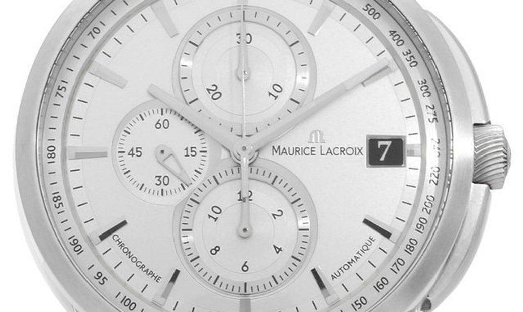 Maurice Lacroix Pontos Gents PT6128-SS001-130, Baton, 2017, Very Good, Case material St