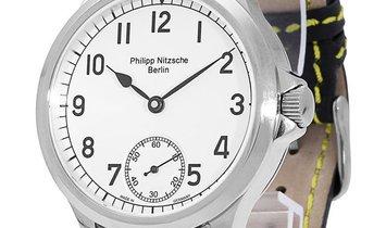 P. Nitzsche Black Circulare Unikat, Arabic Numerals, 2017, Unworn, Case material Steel,