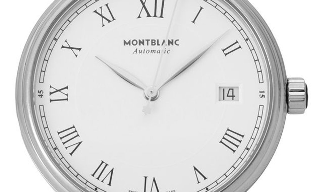 Montblanc Tradition 112632, Roman Numerals, 2018, Very Good, Case material Steel, Brace