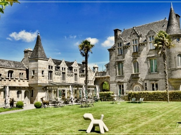 Castle in Pluvigner, Brittany, France 1