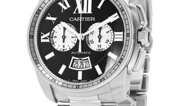 Cartier Calibre de Cartier W7100061 3578, Roman Numerals, 2019, Very Good, Case materia