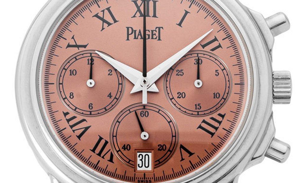 Piaget Gouverneur 12978, Roman Numerals, 1998, Very Good, Case material Platinum, Brace