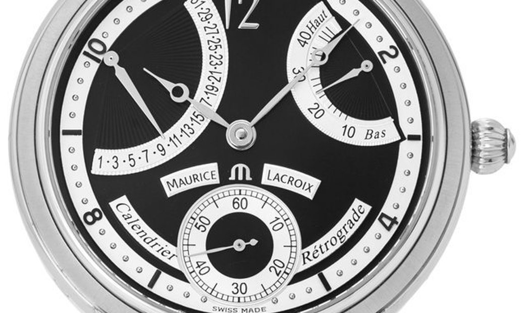 Maurice Lacroix Masterpiece MP7068-SS001-390, Arabic Numerals, 2018, Very Good, Case ma