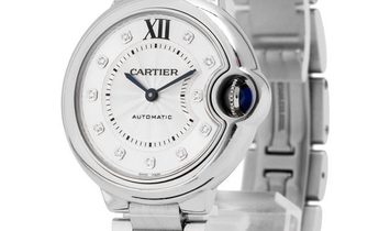 Cartier Ballon Bleu WE902074 , Diamonds, 2016, Very Good, Case material Steel, Bracelet