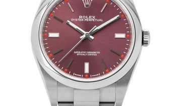 Rolex Oyster Perpetual 114300, Baton, 2020, Very Good, Case material Steel, Bracelet ma