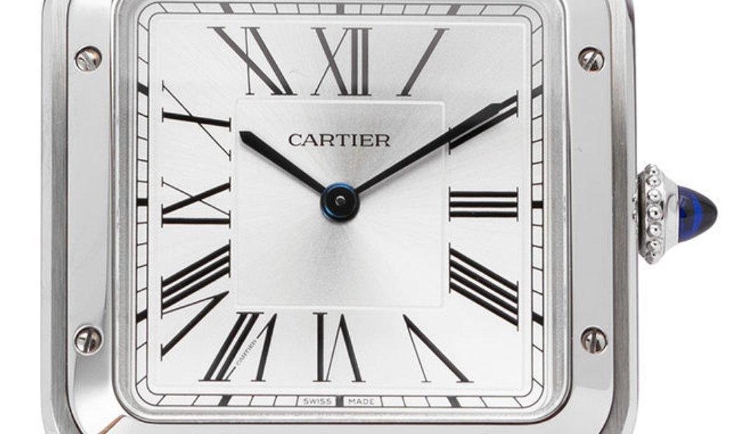 Cartier Santos Dumont WSSA0022, Roman Numerals, 2019, Very Good, Case material Steel, B