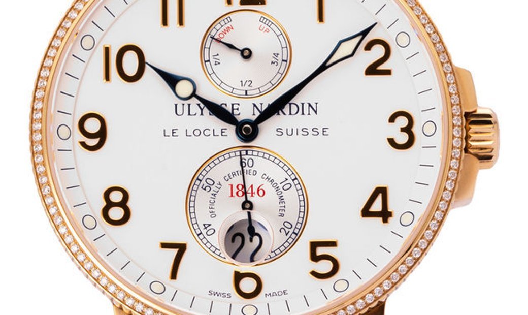 Ulysse Nardin Maxi Marine Chronometer 266-66, Arabic Numerals, 2016, Very Good, Case ma