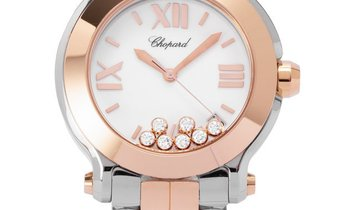 Chopard Happy Sport 278488-9001, Roman Numerals, 2019, Very Good, Case material Steel,