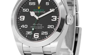 Rolex Air-King 116900, Arabic Numerals, 2018, Very Good, Case material Steel, Bracelet
