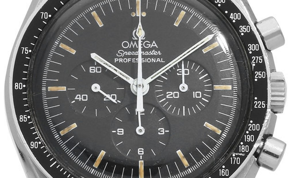 Omega Speedmaster Moonwatch Chronograph 145.022-71, Baton, 1974, Good, Case material St