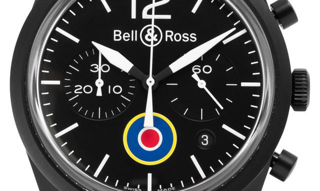 Bell and Ross Vintage RAF Insignia BR126-94-SC, Baton, 2017, Good, Case material Steel,