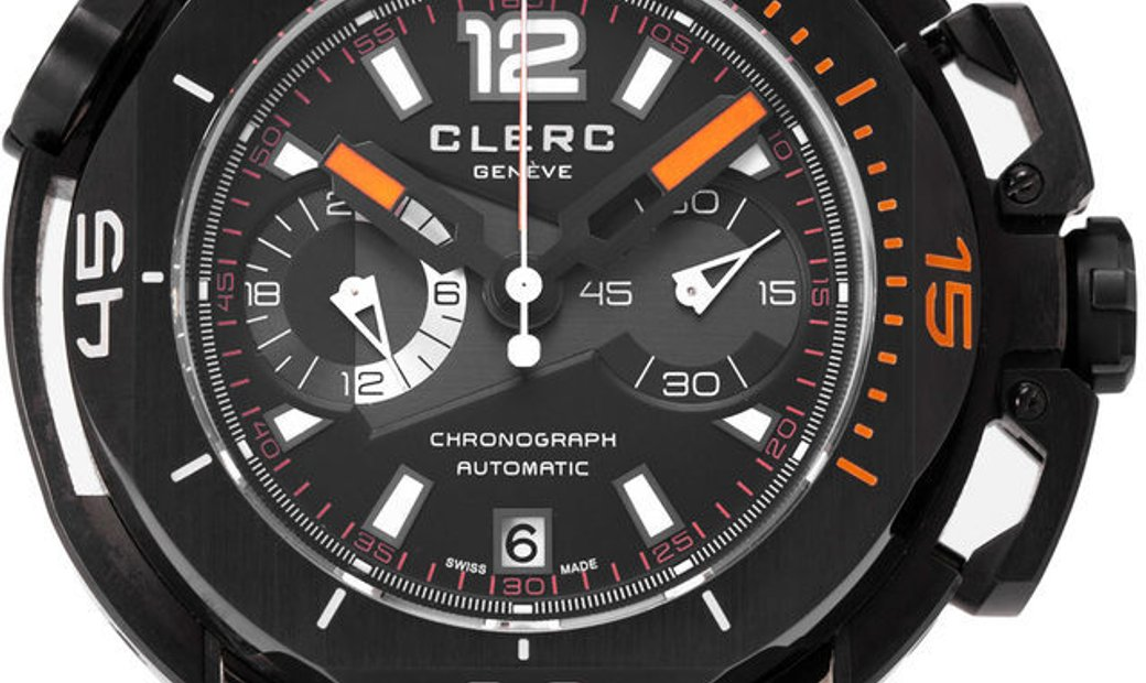 Clerc Hydroscaph CHY-585, Arabic Numerals, 2018, Good, Case material Steel, Bracelet ma
