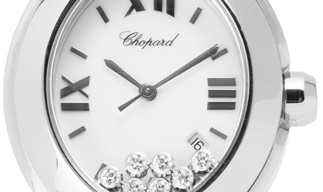 Chopard Happy Sport Oval 278546-3003, Roman Numerals, 2012, Very Good, Case material St