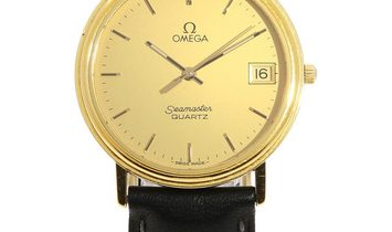 Omega Seamaster 396.0969, Baton, 1986, Used, Case material Steel, Bracelet material: Le