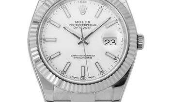 Rolex Datejust 126334, Baton, 2019, Very Good, Case material Steel, Bracelet material: