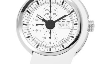 Fortis Spaceleader Chronograph 661.20.32 Si.02, Baton, 2012, Unworn, Case material Stee